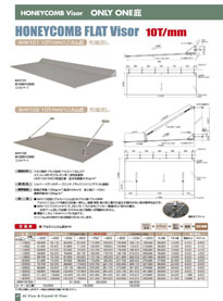 HONEYCOMB FLAT Visor 10T/mm