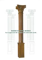 装飾角柱 手彫り天然木