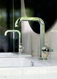 アクサーチッテリオ3ホール壁付式洗面混合水栓(クロスハンドル,化粧部)