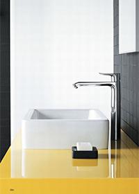 シングルレバー ハイスパウト洗面混合水栓250(ベッセル型洗面器用)