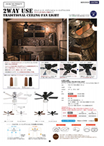 2WAY USE TRADITIONAL CEILING FAN LIGHT