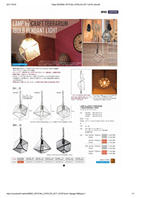 LAMP by CRAFT TERRARIUM 1BULB PENDANT LIGHT