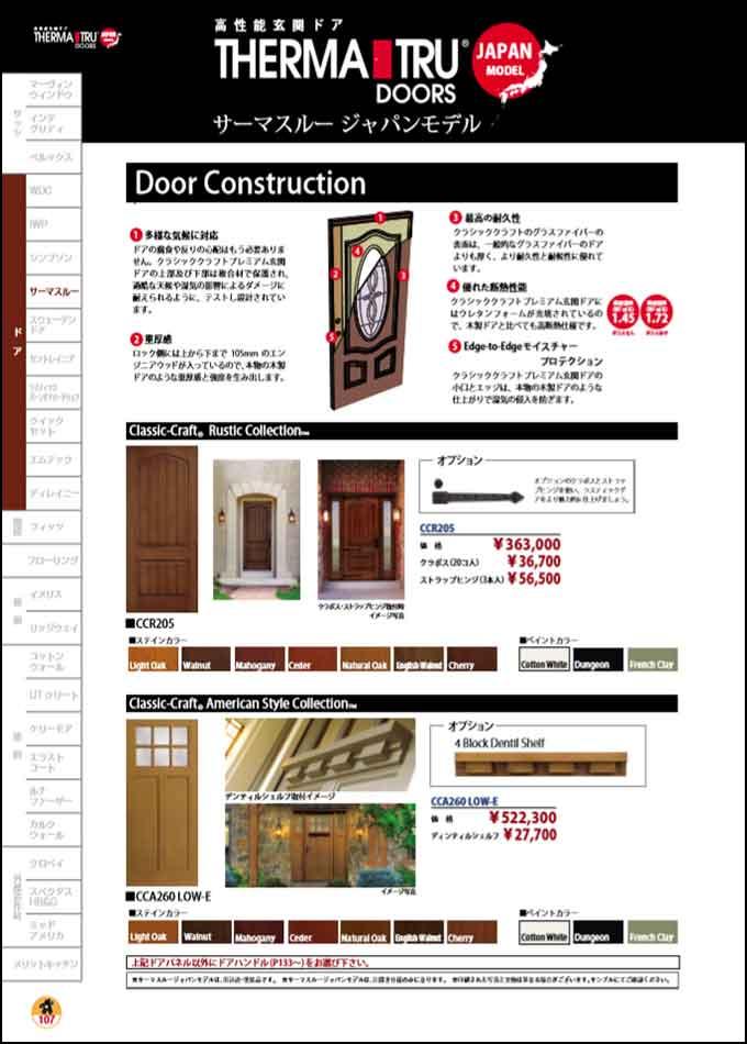 サーマスルー社製 玄関ドア