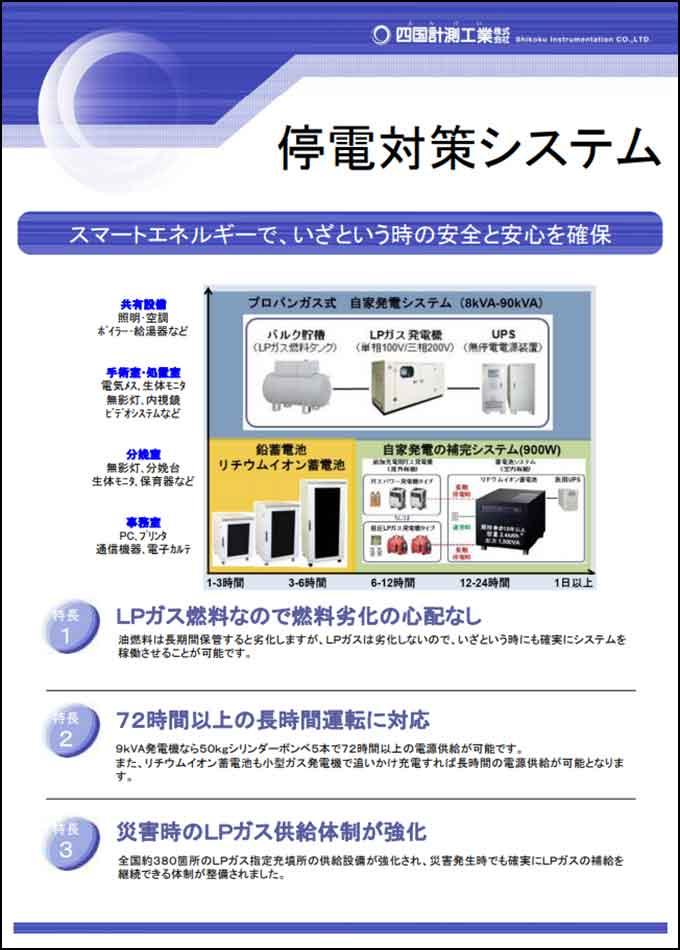 停電対策システム