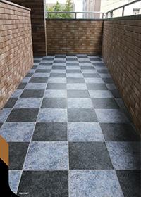パルム 【内装床壁・外装床タイル】(300)らくらくり~ん 超汚れ防止機能付き