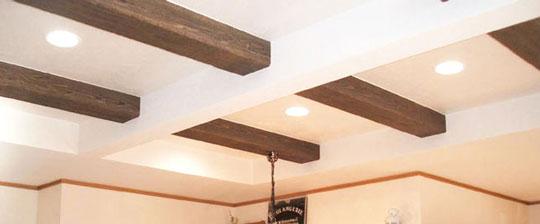 化粧梁からレンガ風、ブロック風タイル等、デザインに特化した内装用建材の専門工房です。