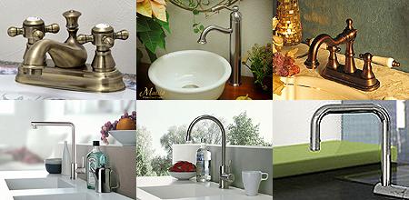 シンプルから個性的なデザインの水栓金具を取り揃えております!