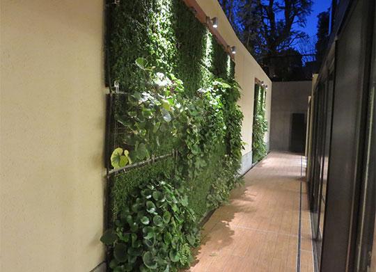 壁面緑化システム「SR-pm」の施工事例をご紹介します。
