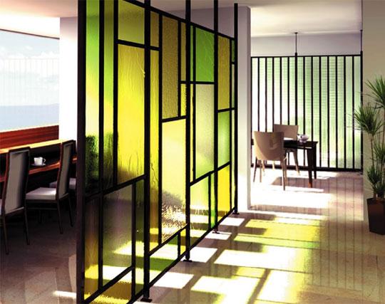 デザインガラスの為に開発されたシステムフレーム「トライプリズム」のご紹介。 製品紹介