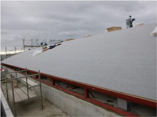 接着力はバツグン!強風にも心配ない屋根下葺材「エコタック」