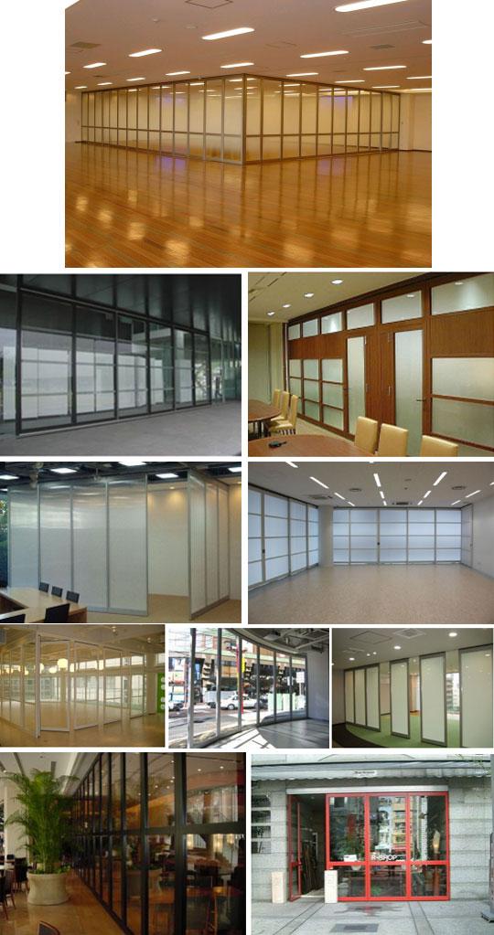 施工例をご紹介♪移動ガラス間仕切システム「クリアムーブウォール」