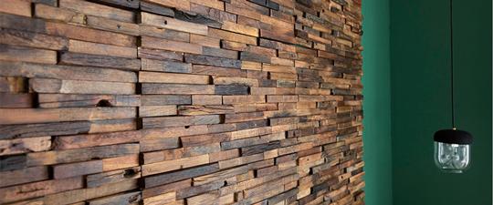 天然古材の寄木細工パネル「3D WOOD BOAD」