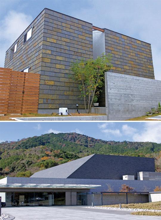 自然の風合いと重厚感ある天然スレートを屋根にも、壁にも!