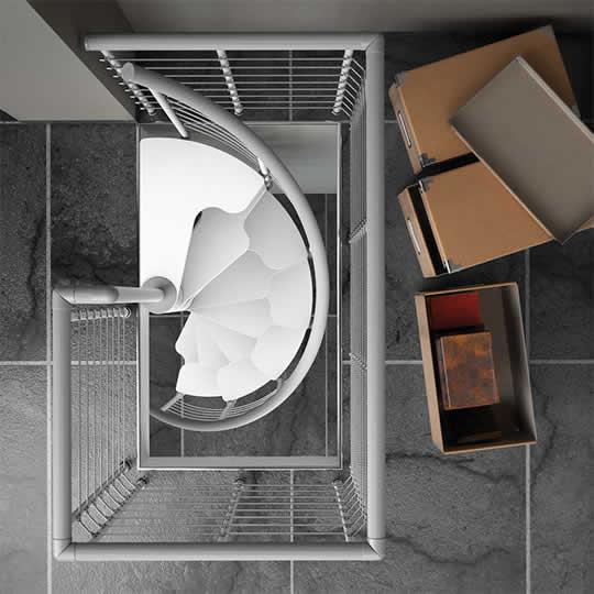 デザイン性が高い!!コンパクトらせん階段『magia~マジーア~』