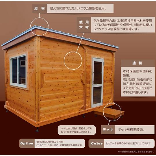 日本で初めて移動式にした木造のユニットハウス「レブユニット」