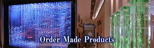 水と光と空気をモチーフにしたインテリアオブジェをご提供