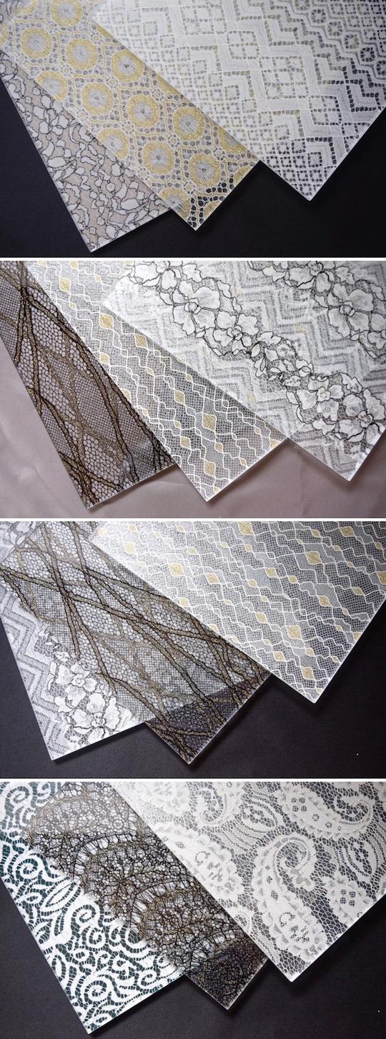 程よい目隠しと美しい採光を実現しワンランク上の空間を創造する「装飾ガラスレース」