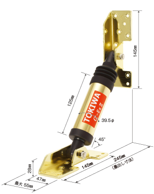 実績12,000棟の木造住宅用油圧制震装置「αDamperExⅡ」を展示