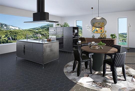 ゼロ動線を追求したキッチン「イノ メタリックダイヤモンド」を発表! 新製品