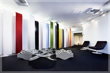 見て、触れて、その質感やデザイン性をご体感頂けるショールーム。