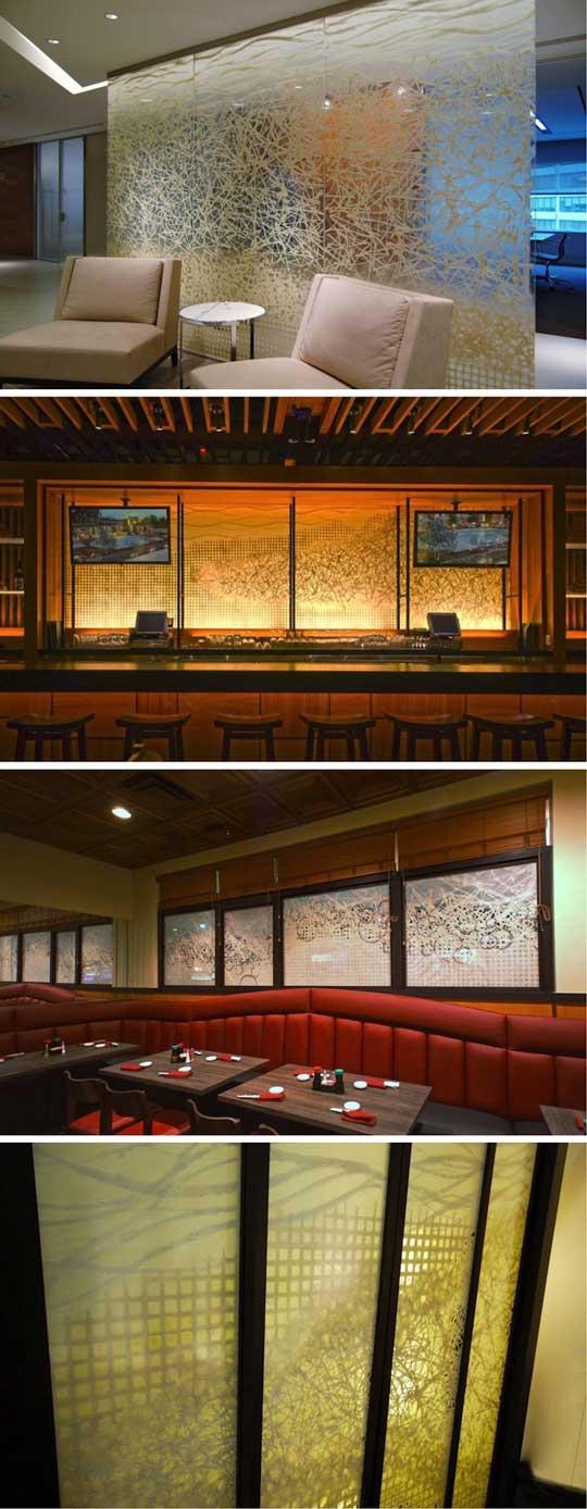 オンリーワンな和紙デザインをガラスに施すことが可能!「和紙ラミネートガラス」 製品紹介