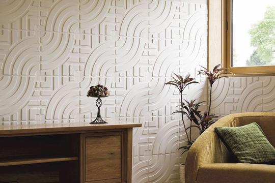 和紙を立体的に漉いた新しい装飾用パネル「デコ・ベース」 製品紹介