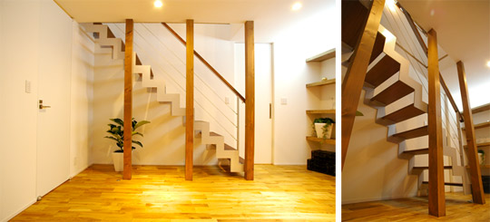 上質な住空間を志向する暮らし手に、稲沢鐵工の住宅用スチール階段シリーズ