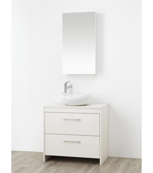 コンパクトな家具調洗面化粧台WAILEA