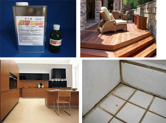 ウッドデッキ(木製品)・タイル・金属・コンクリートなどあらゆる素材に対応可能!フッ素系に代わる高耐久性ガラス塗料 HPリニューアル