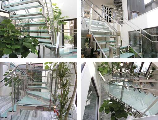 デザイン・機能性に優れた美しいガラス階段 製品紹介