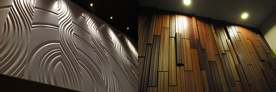 動きある色彩が創造性豊かな壁面装飾パネル「ディンプルシェード」のご紹介 製品紹介
