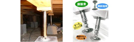 建物の耐震・耐久性抜群の床束「ツカエース」のご紹介
