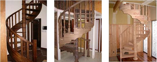 完全オーダー階段 「松(パイン)系らせん階段」