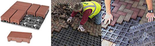 世界初!エコ時代の舗装革命!コンクリートに代わる合成建材「AZEK舗装用コンポジットブロック」
