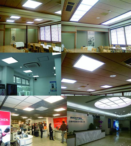 LEDパネル照明100 lm/W 導光板 屋内照明 検査用に 製品紹介