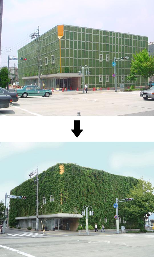 つる植物を用いた壁面緑化工法「ツルパワーパネル」 製品紹介