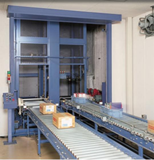 省力プラス省スペースを約束する「垂直搬送システム」