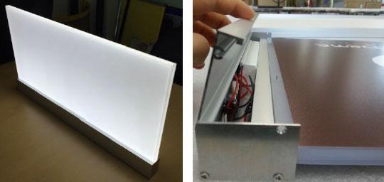 フレームレス屋内用LEDライトブライトLED導光板天吊りサイン / 袖サイン製品 製品紹介