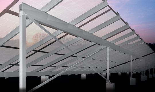 アルミの利点を最大限に活用した、次世代の太陽光パネル架台 「サンレールステージ」