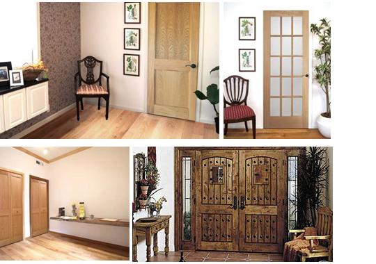 木製内部ドアや窓で空間をコーディネート