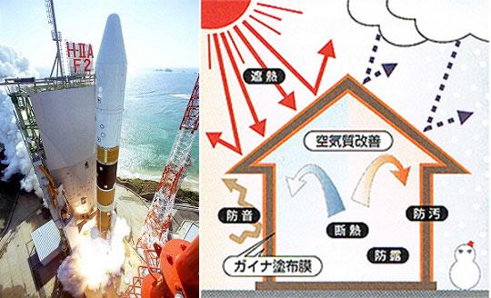 ロケット開発で培われた最先端の断熱技術「ガイナ」