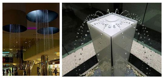 水玉が上がっていく世界唯一の噴水「ウォーターパール」