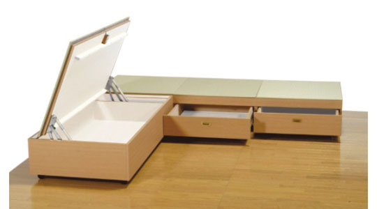 「デッドスペース」を利用し空間にゆとりを生む収納システム
