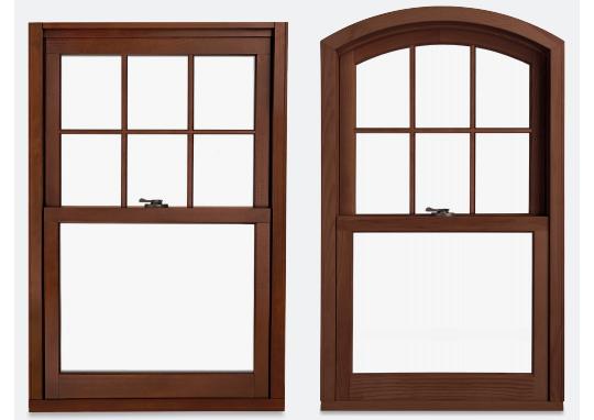 ロックの受け金物がないダブルハング木製窓 製品紹介