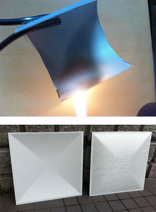 ガラス繊維×液体ガラスで出来た完全不燃の新素材