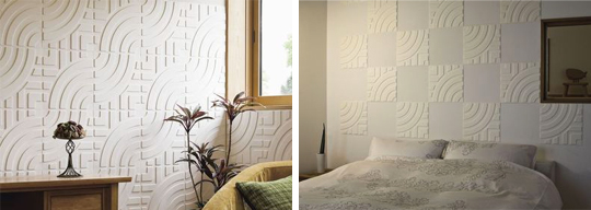 和紙を用いた造形がさまざまな表情を生み出す装飾パネル 製品紹介