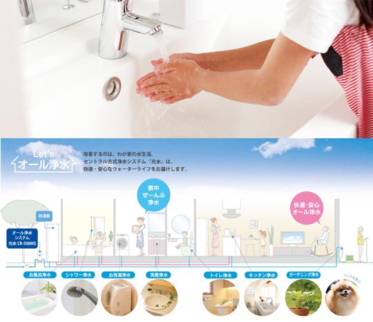 【光水®】実現します、家中すべての浄水生活。