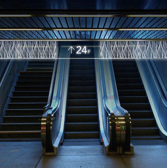 光るLED防煙垂壁『M式LEDサインボウタレ®』のご紹介。