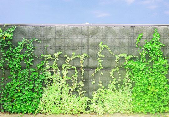 新製品!景観・環境対応 防音めかくし塀【緑化型防音ウォール】のご紹介。