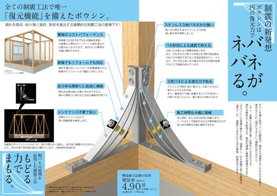 すべての制震工法で唯一「復元機能」を備えたボウシン 製品紹介